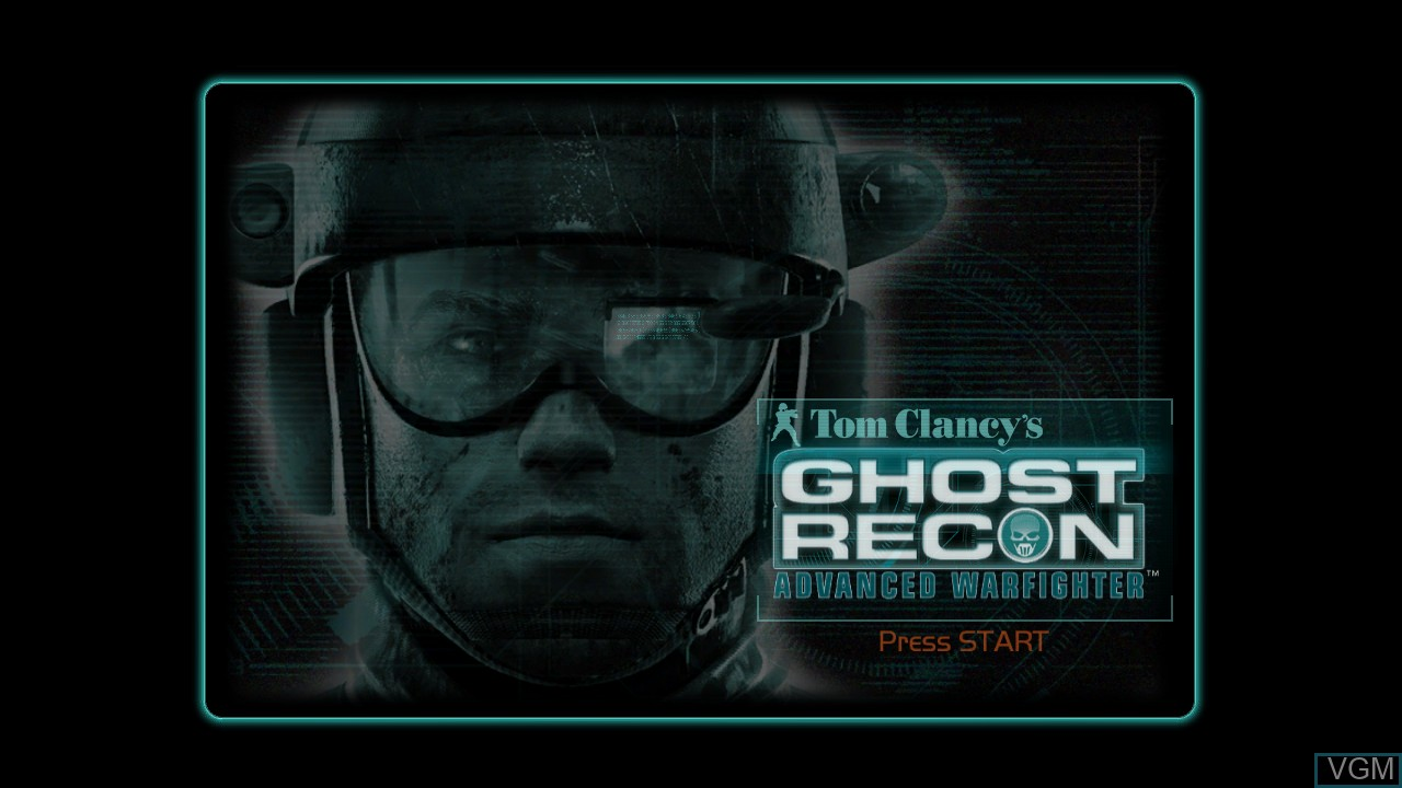 Image de l'ecran titre du jeu Tom Clancy's Ghost Recon Advanced Warfighter sur Microsoft Xbox 360