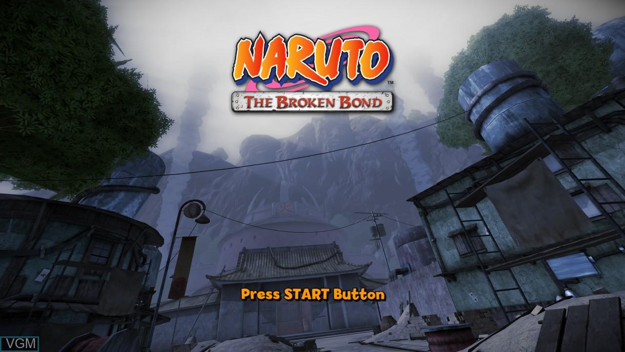 Image de l'ecran titre du jeu Naruto - The Broken Bond sur Microsoft Xbox 360