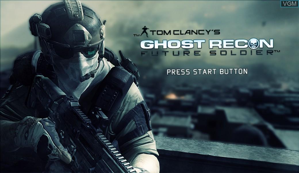 Image de l'ecran titre du jeu Tom Clancy's Ghost Recon - Future Soldier sur Microsoft Xbox 360