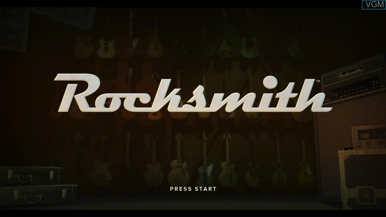 Image de l'ecran titre du jeu Rocksmith sur Microsoft Xbox 360