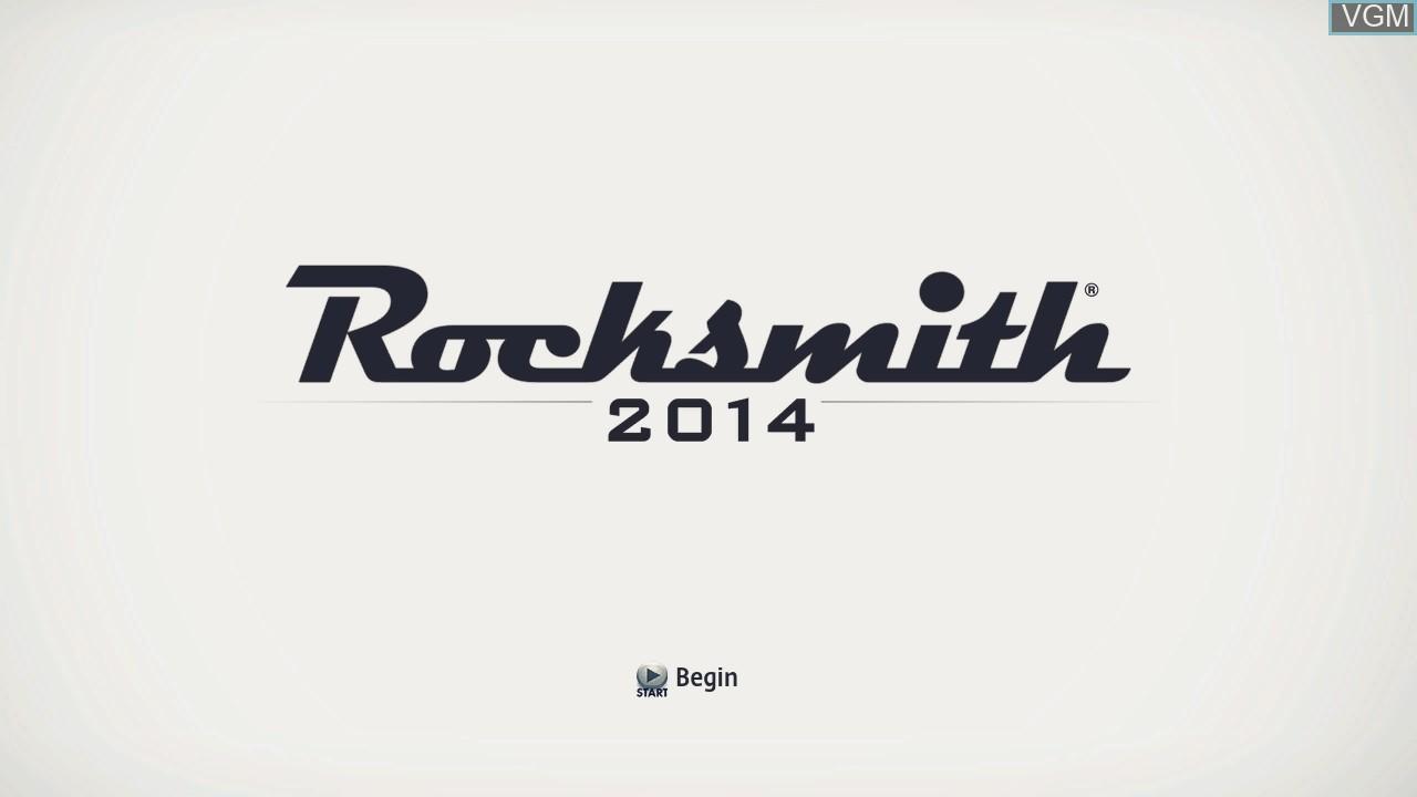 Image de l'ecran titre du jeu Rocksmith 2014 Edition sur Microsoft Xbox 360