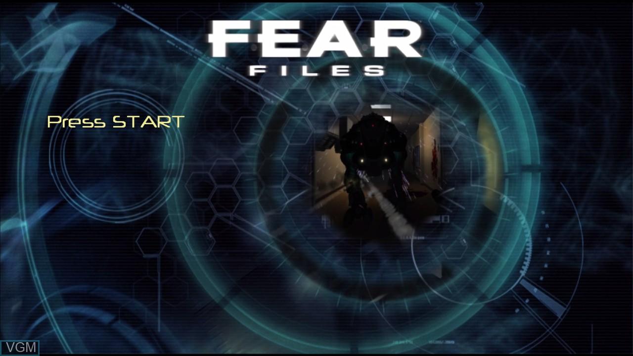 Image de l'ecran titre du jeu F.E.A.R. Files sur Microsoft Xbox 360