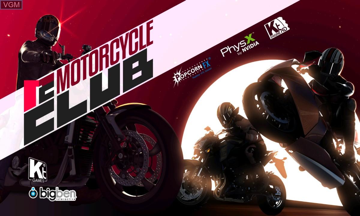 Image de l'ecran titre du jeu Motorcycle Club sur Microsoft Xbox 360