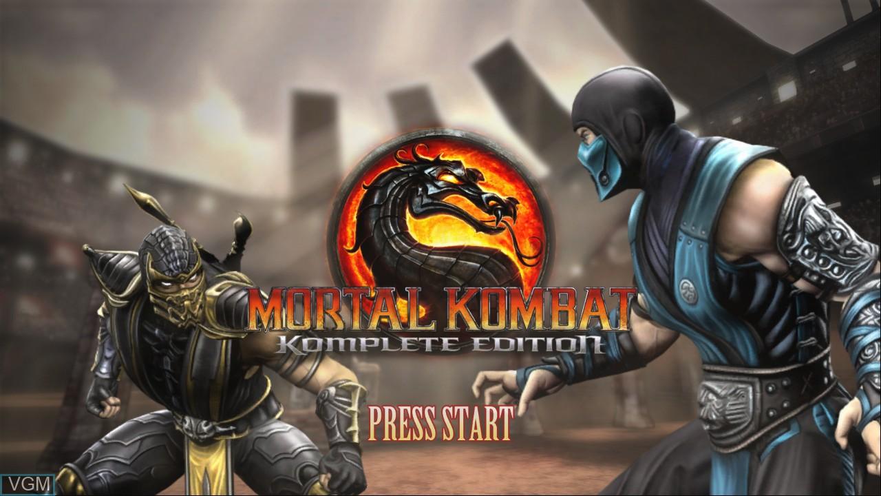 Image de l'ecran titre du jeu Mortal Kombat Komplete Edition sur Microsoft Xbox 360