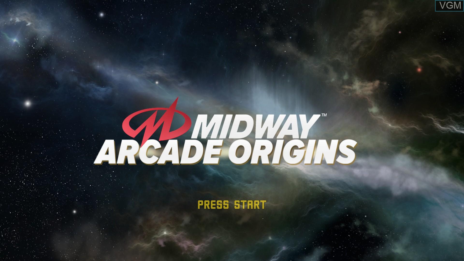 Image de l'ecran titre du jeu Midway Arcade Origins sur Microsoft Xbox 360