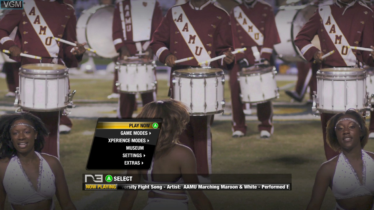 Image du menu du jeu Black College Football Experience - The Doug Williams Edition sur Microsoft Xbox 360
