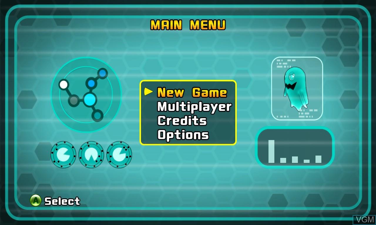 Image du menu du jeu Pac-Man and the Ghostly Adventures sur Microsoft Xbox 360