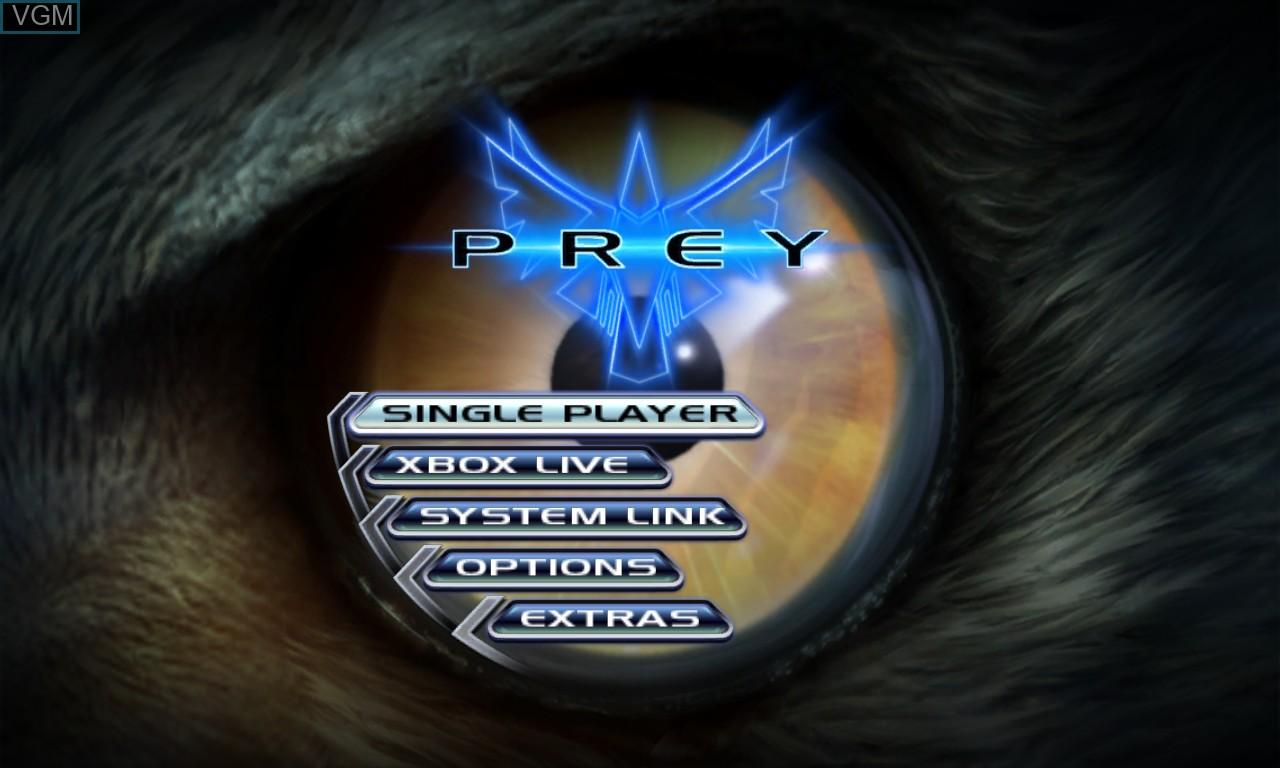 Image du menu du jeu Prey sur Microsoft Xbox 360