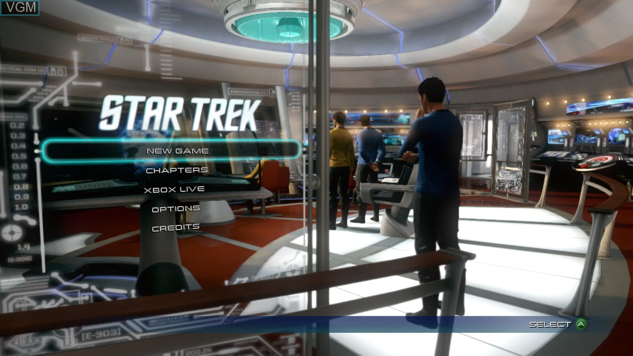 Image du menu du jeu Star Trek The Video Game sur Microsoft Xbox 360