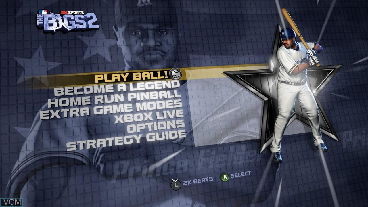 Image du menu du jeu Bigs 2, The sur Microsoft Xbox 360
