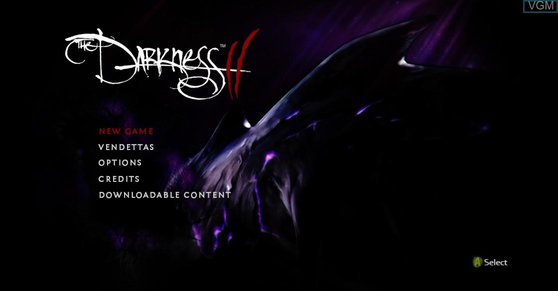 Image du menu du jeu Darkness II, The sur Microsoft Xbox 360