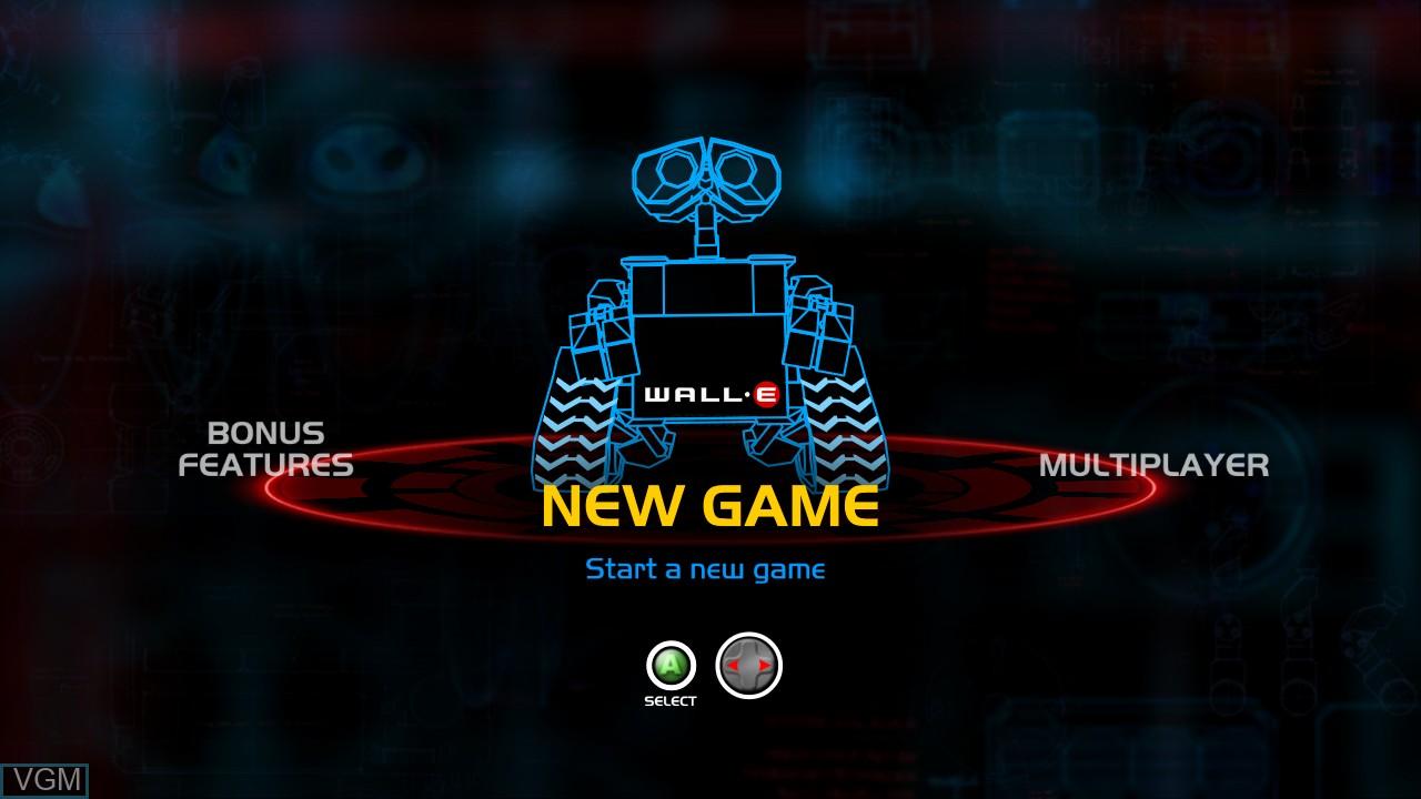 Image du menu du jeu WALL-E sur Microsoft Xbox 360