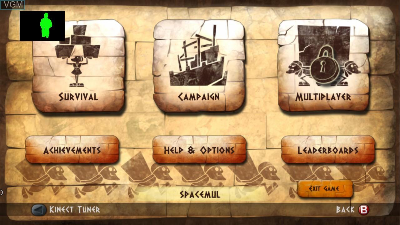 Image du menu du jeu Babel Rising sur Microsoft Xbox 360