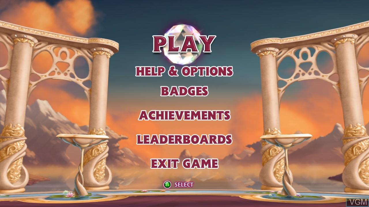 Image du menu du jeu Bejeweled 3 sur Microsoft Xbox 360