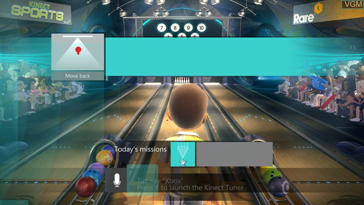 Image du menu du jeu Kinect Sports - 10 Frame Bowling sur Microsoft Xbox 360