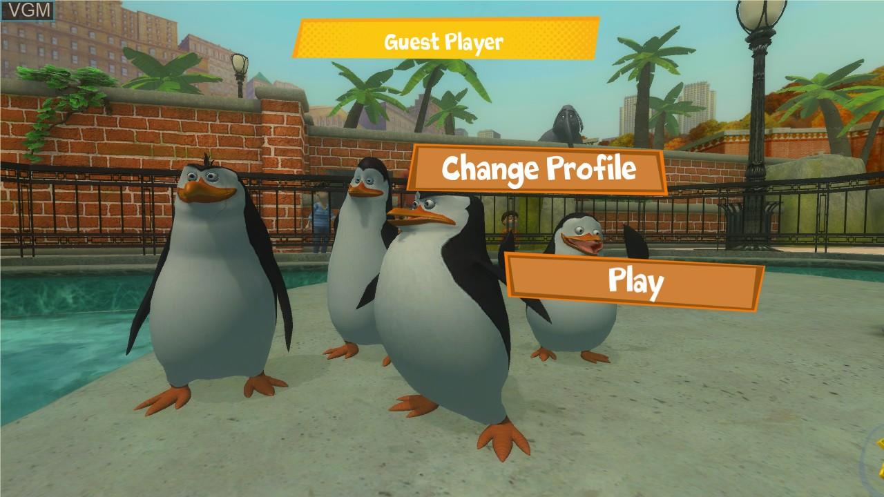 Image du menu du jeu Penguins of Madagascar, The - Dr. Blowhole Returns - Again! sur Microsoft Xbox 360
