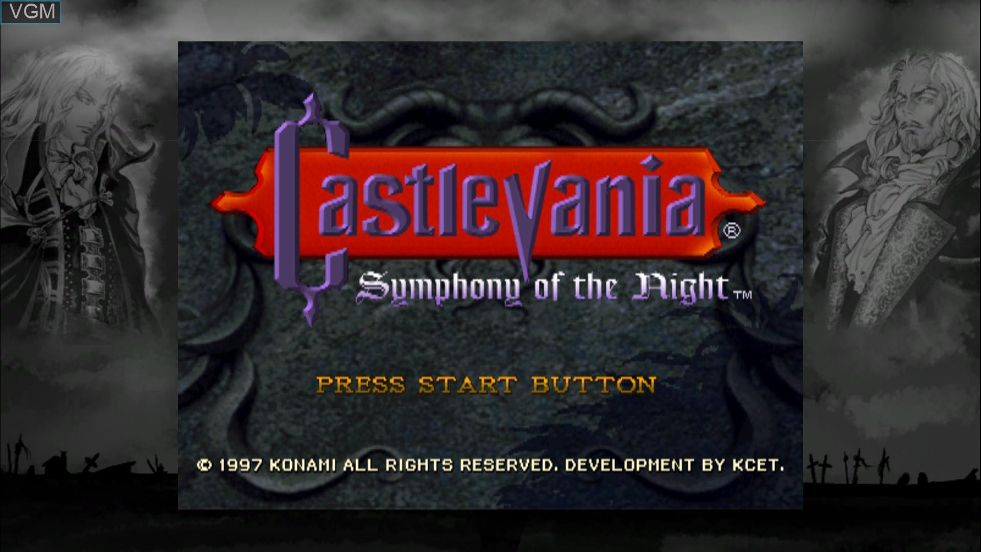 Image du menu du jeu Castlevania - Symphony of the Night sur Microsoft Xbox 360