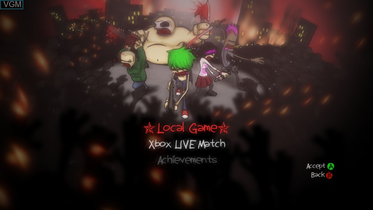 Image du menu du jeu Charlie Murder sur Microsoft Xbox 360