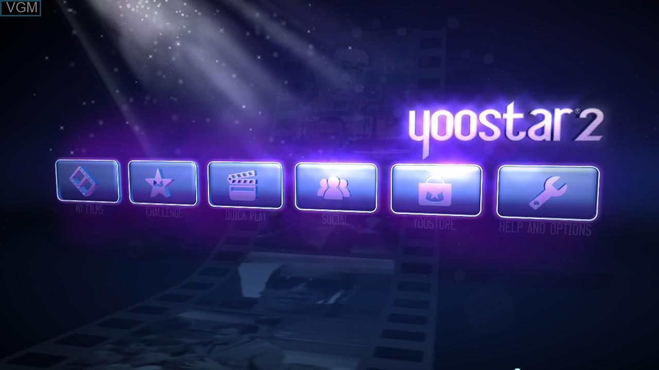 Image du menu du jeu Yoostar 2 - In The Movies sur Microsoft Xbox 360