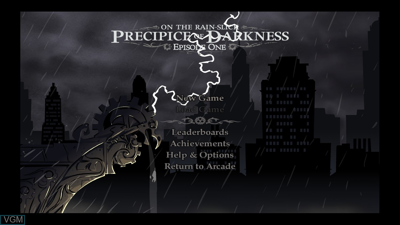 Image du menu du jeu Penny Arcade Adventures - On the Rain-Slick Precipice of Darkness Episode One sur Microsoft Xbox 360