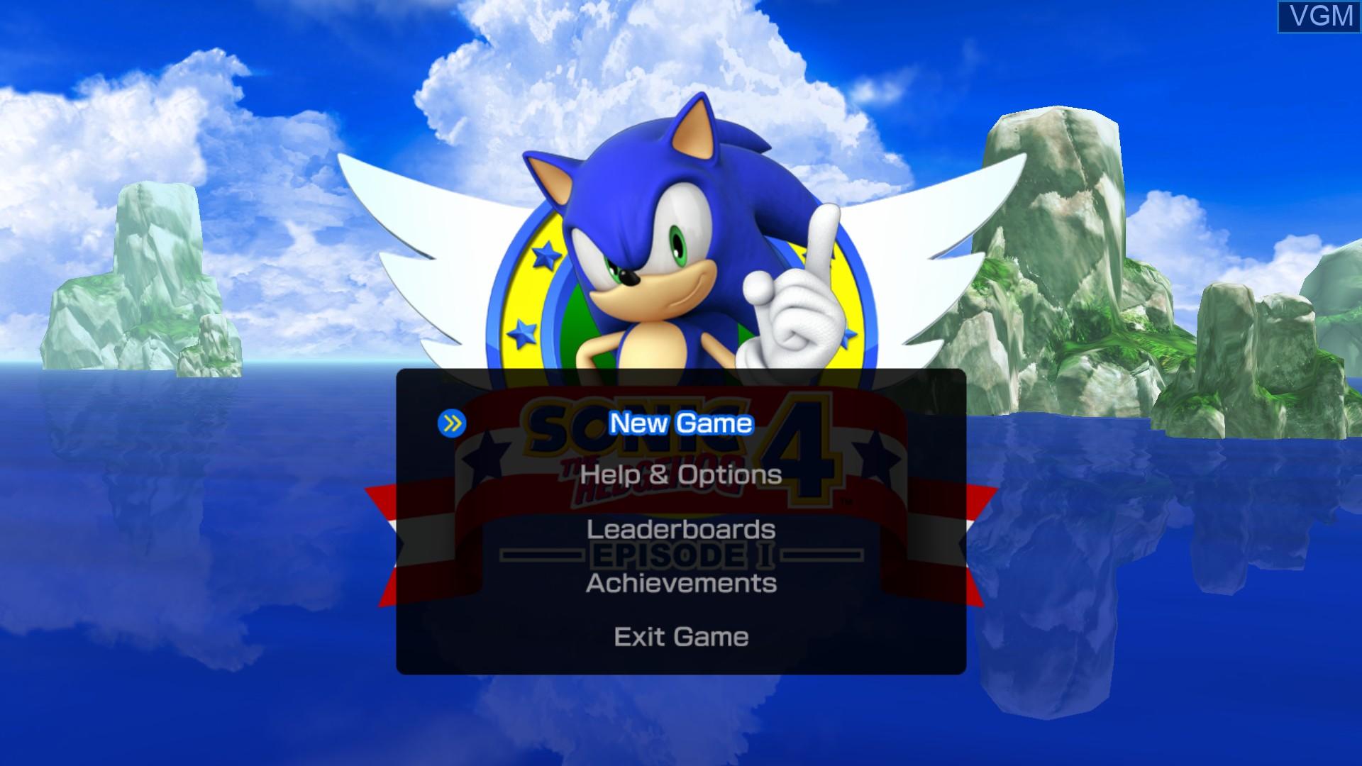 Image du menu du jeu Sonic the Hedgehog 4 - Episode I sur Microsoft Xbox 360
