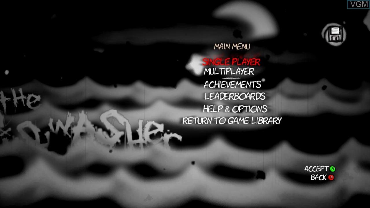 Image du menu du jeu The Dishwasher - Vampire Smile sur Microsoft Xbox 360