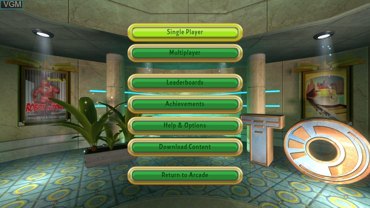 Image du menu du jeu Things on Wheels sur Microsoft Xbox 360