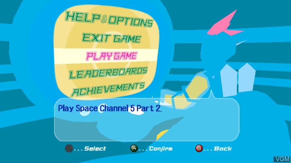Image du menu du jeu Space Channel 5 Part 2 sur Microsoft Xbox 360