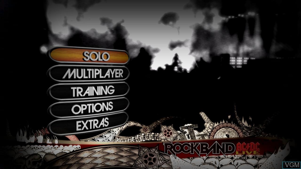 Image du menu du jeu AC/DC LIVE - Rock Band Track Pack sur Microsoft Xbox 360