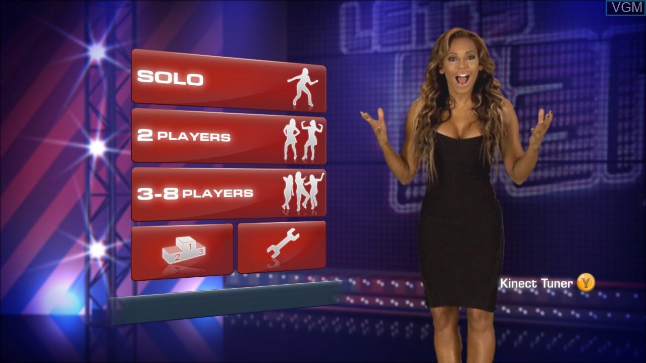 Image du menu du jeu Let's Dance sur Microsoft Xbox 360