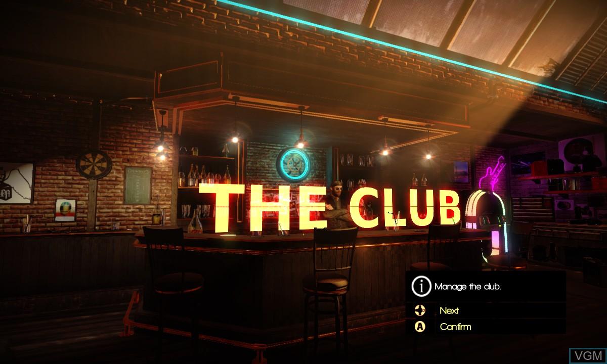 Image du menu du jeu Motorcycle Club sur Microsoft Xbox 360