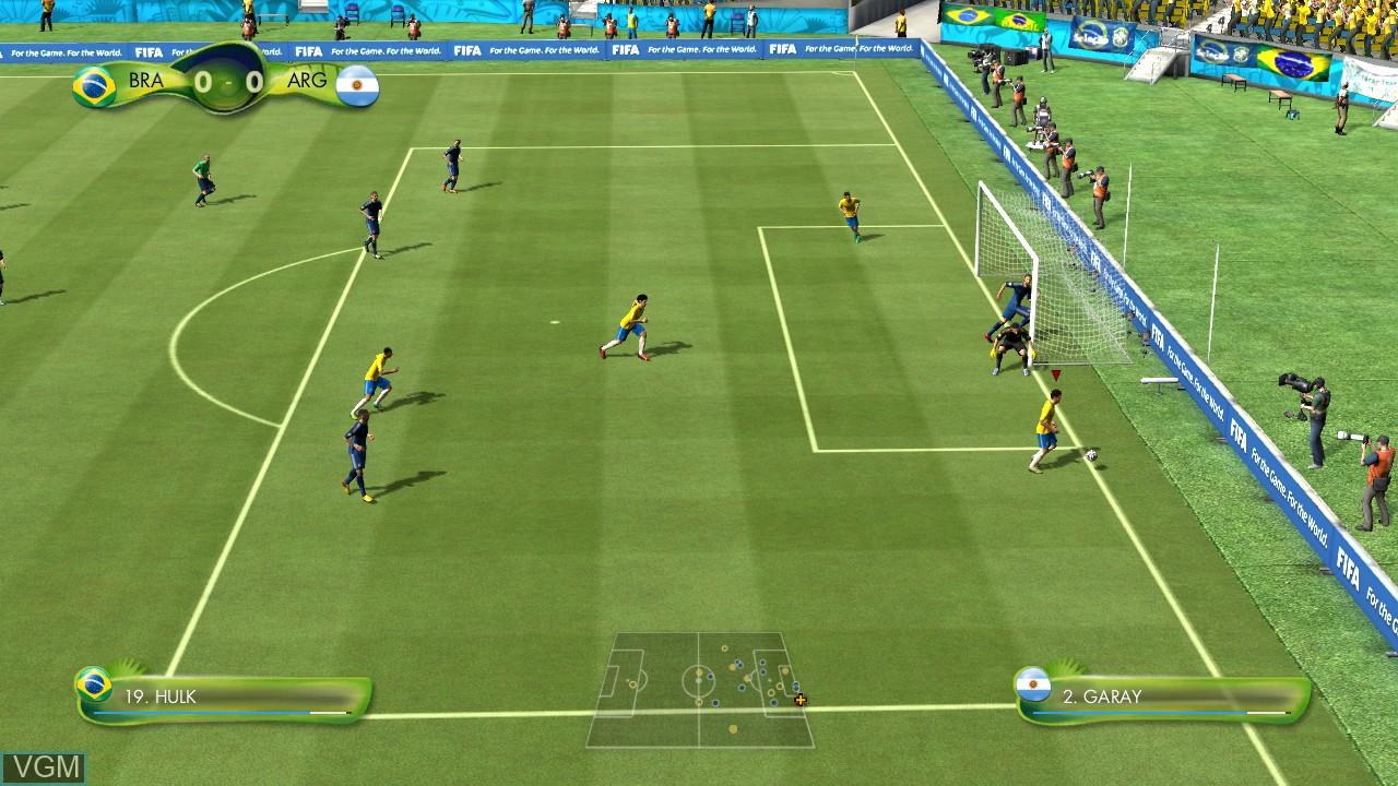 Image in-game du jeu 2014 FIFA World Cup Brazil sur Microsoft Xbox 360