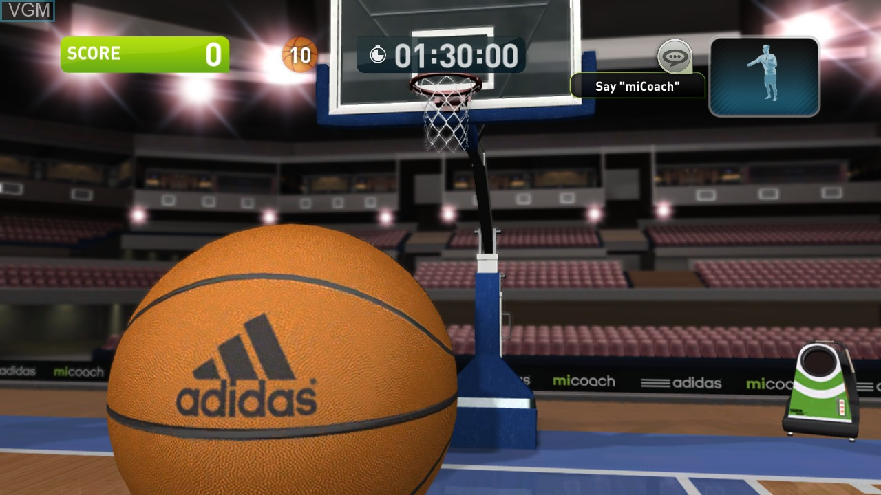 Image in-game du jeu Adidas miCoach sur Microsoft Xbox 360