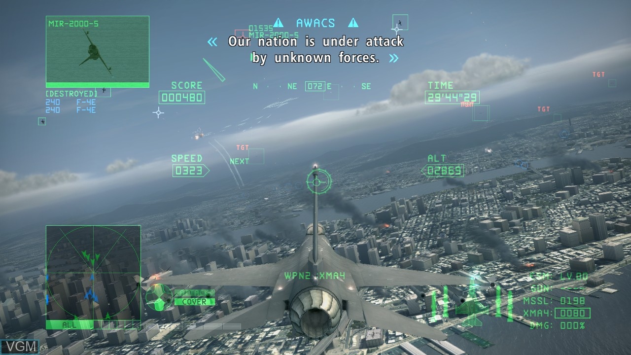 Image in-game du jeu Ace Combat 6 - Fires of Liberation sur Microsoft Xbox 360
