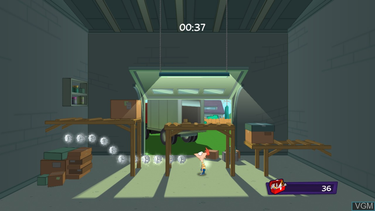 Image in-game du jeu Phineas and Ferb - Quest for Cool Stuff sur Microsoft Xbox 360