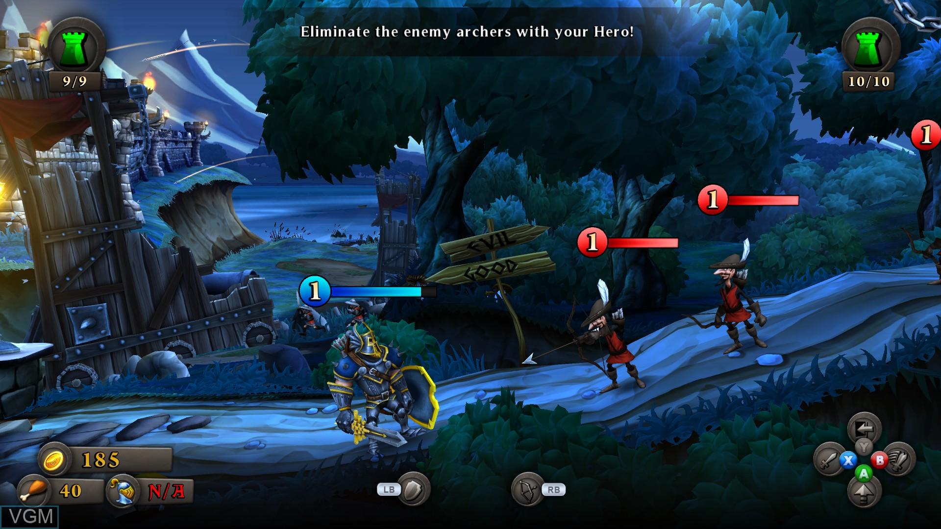 Image in-game du jeu CastleStorm sur Microsoft Xbox 360