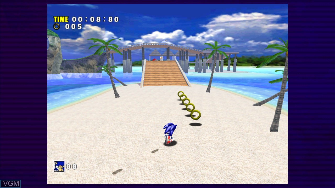 Image in-game du jeu Sonic Adventure sur Microsoft Xbox 360