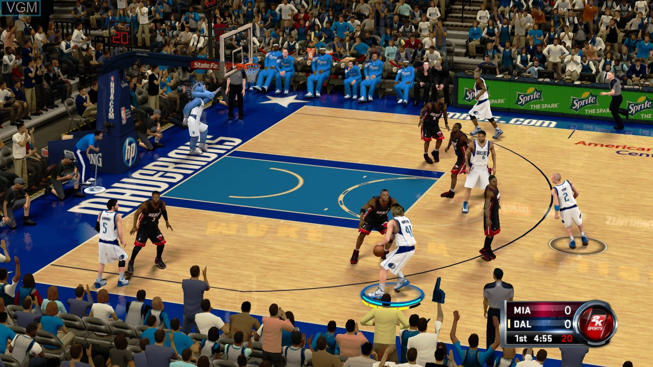 Image in-game du jeu NBA 2K12 sur Microsoft Xbox 360