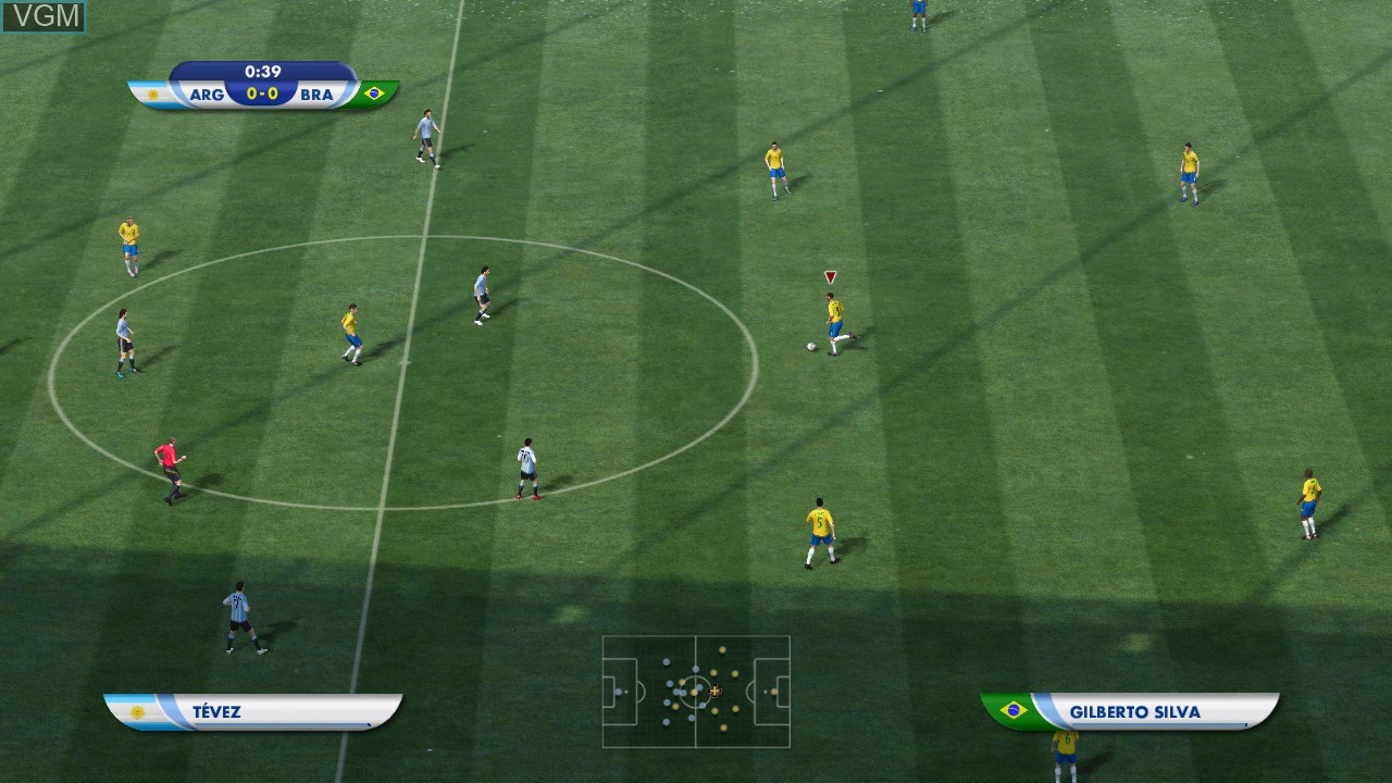 Image in-game du jeu 2010 FIFA World Cup South Africa sur Microsoft Xbox 360