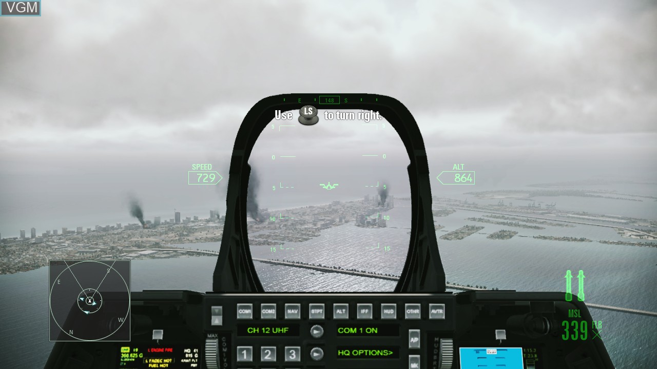 Image in-game du jeu Ace Combat - Assault Horizon sur Microsoft Xbox 360