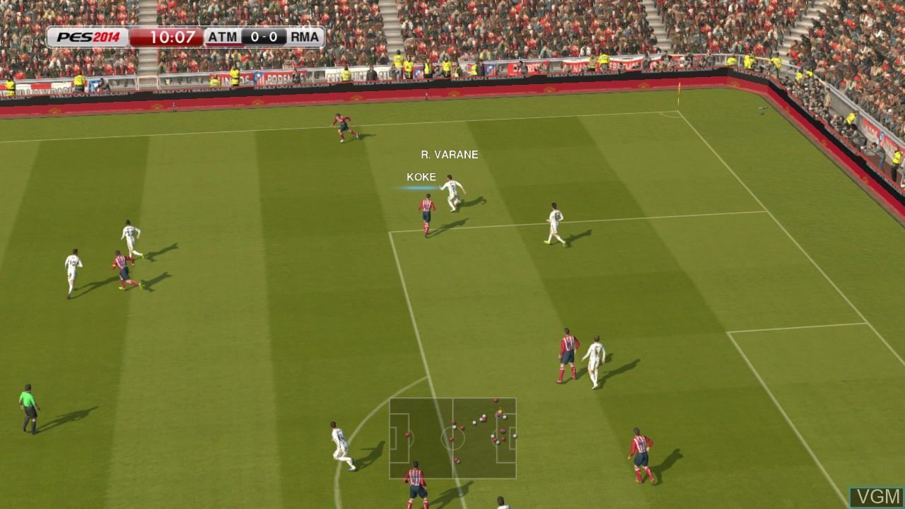 Image in-game du jeu Pro Evolution Soccer 2014 sur Microsoft Xbox 360