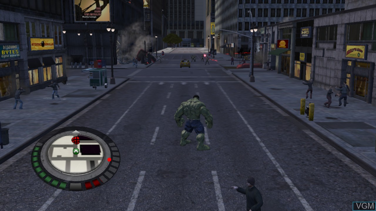 Image in-game du jeu Incredible Hulk, The sur Microsoft Xbox 360