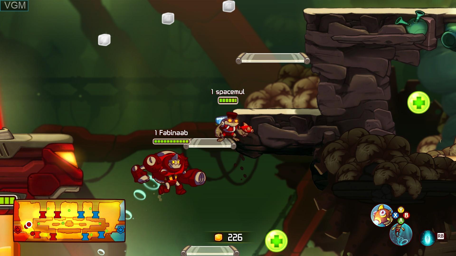Image in-game du jeu Awesomenauts sur Microsoft Xbox 360