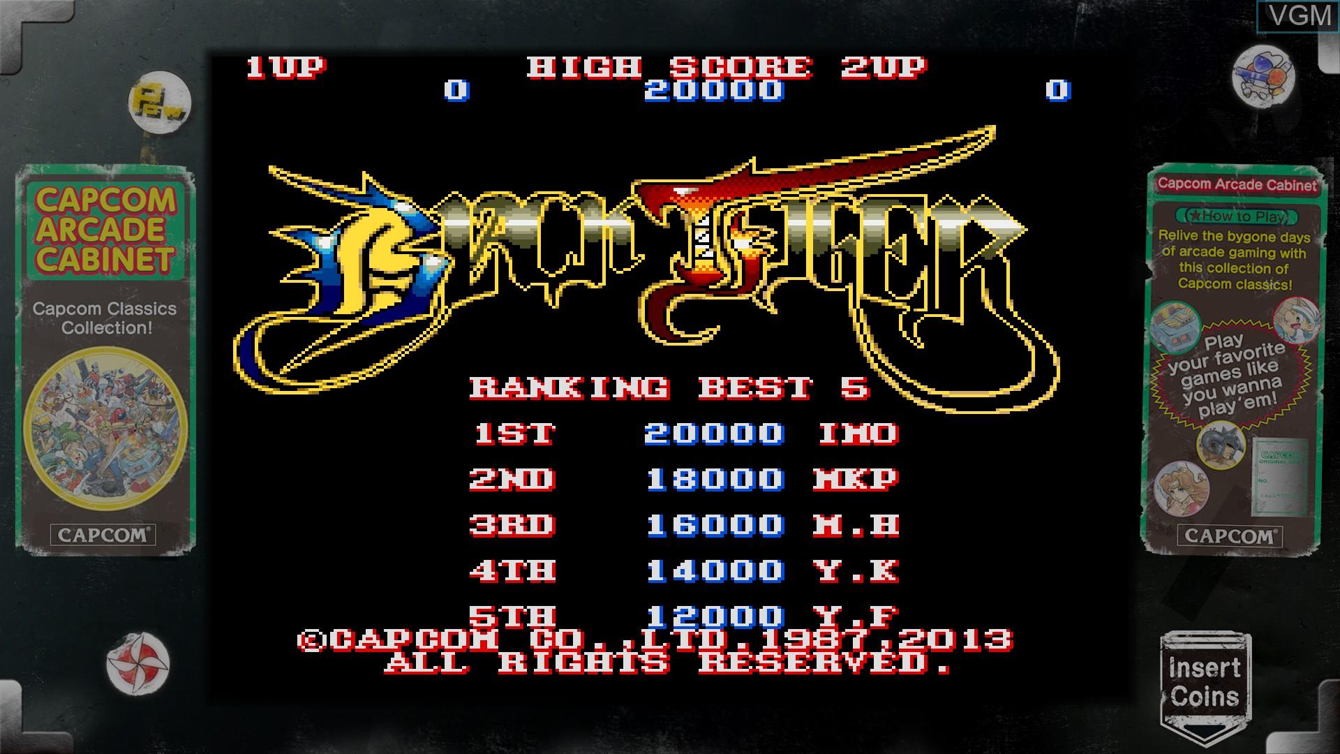 Image in-game du jeu Capcom Arcade Cabinet sur Microsoft Xbox 360