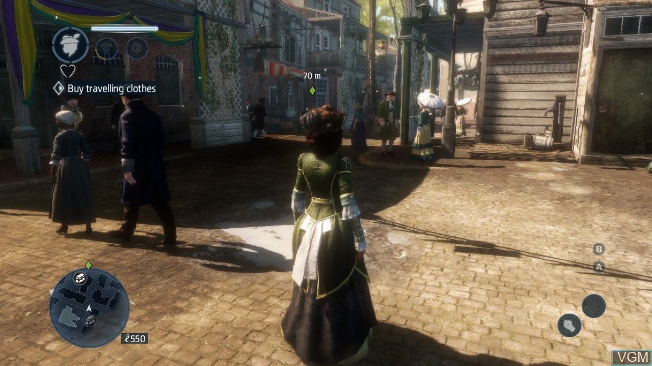 Image in-game du jeu Assassin's Creed Liberation HD sur Microsoft Xbox 360