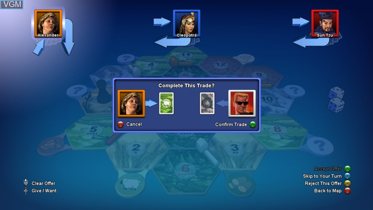 Image in-game du jeu Catan sur Microsoft Xbox 360