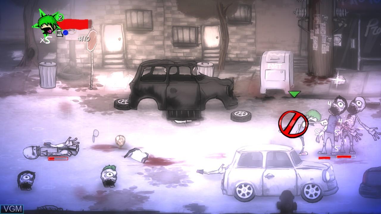 Image in-game du jeu Charlie Murder sur Microsoft Xbox 360