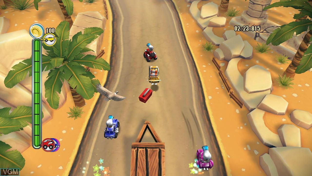Image in-game du jeu TNT Racers sur Microsoft Xbox 360