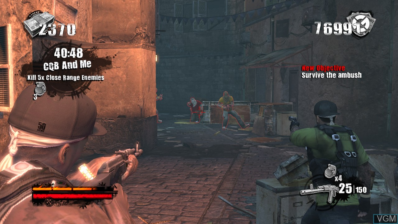Image in-game du jeu 50 Cent - Blood on the Sand sur Microsoft Xbox 360