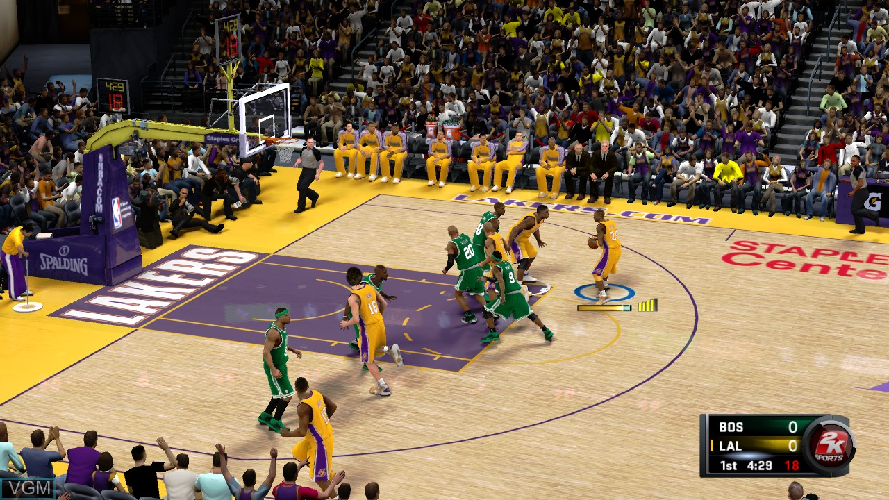 Image in-game du jeu NBA 2K11 sur Microsoft Xbox 360